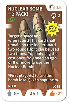 Nuclear bomb card