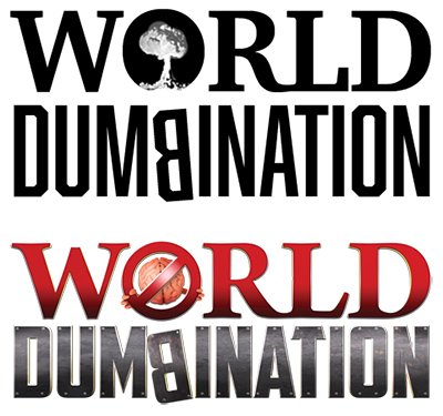 Old and new World Dumbination logo