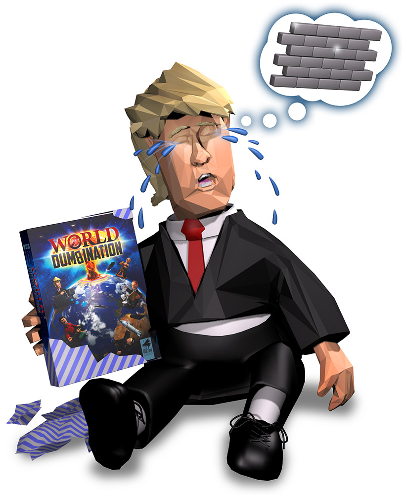 Little Trump got a bit too complex game for his abilities...